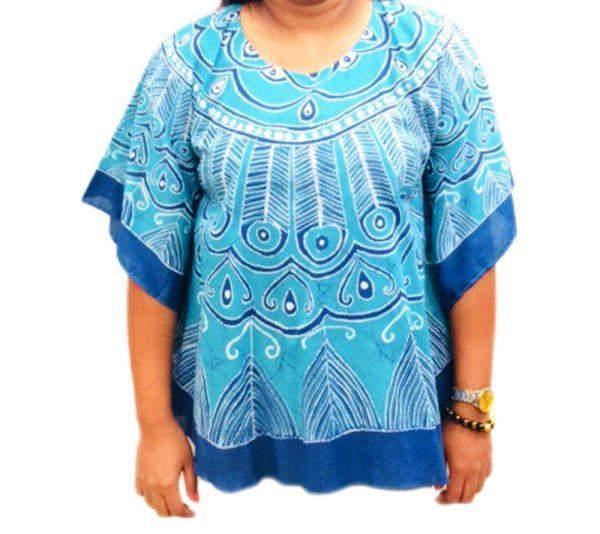 Batik Cotton Poncho #12