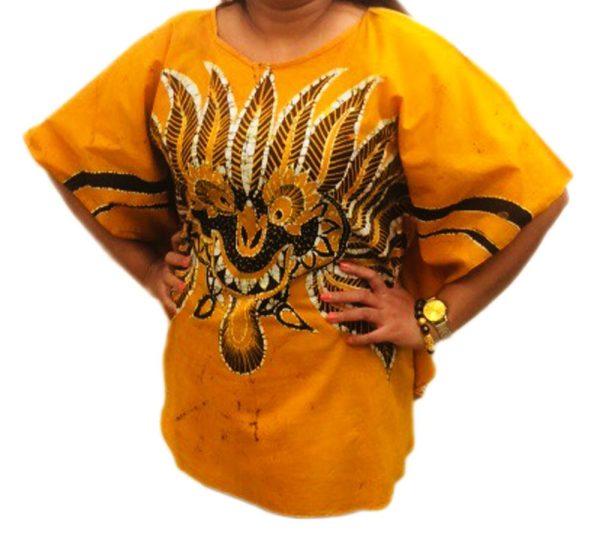 Batik Cotton Poncho #13