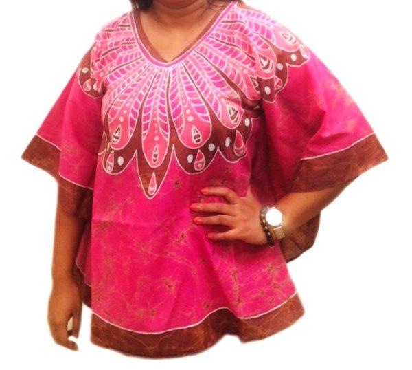 Batik Cotton Poncho 17