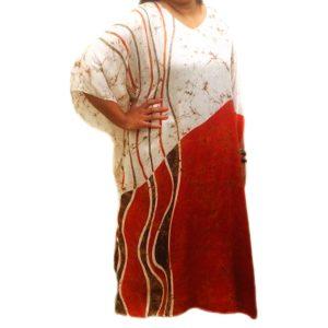 Batik Silk Kaftan