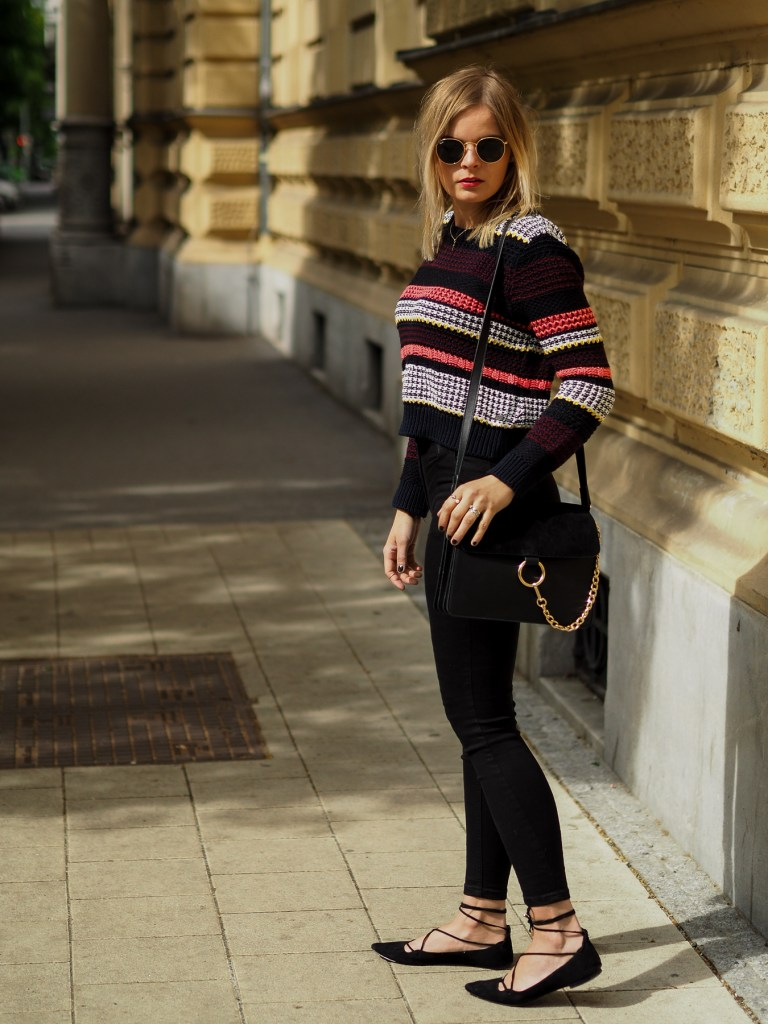 Cropped Sweater, High Waist Jeans, Ray Ban, Springlook, Fashion, Fashionblogger