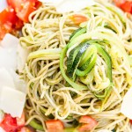Pasta, Zoodles, low carb, Rezept, Basilikum Pesto, Tomaten, selbstemachtes Pesto, Kräuter, Dinner, Lunch, Cook, Lakatyfox, foodblogger, food, vegetairsch,