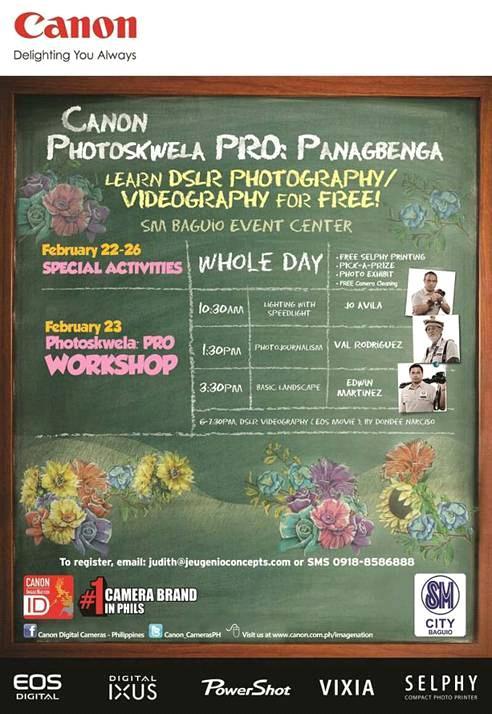 Canon Photoeskwela Panagbenga Festival