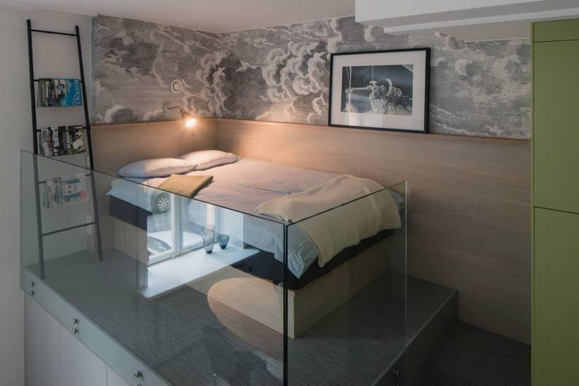 Дизайн стильной квартиры 44м2 из офисных помещений с креативными решениями