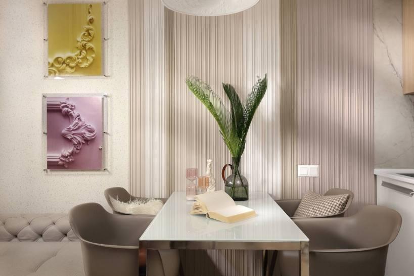 Фантастически теплый и светлый интерьер, великолепная меблировка 34м2 с аккуратной планировкой.