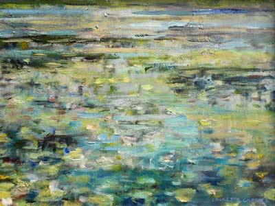 Waterlily Pond - Impressionist Art by Laurette Carroll