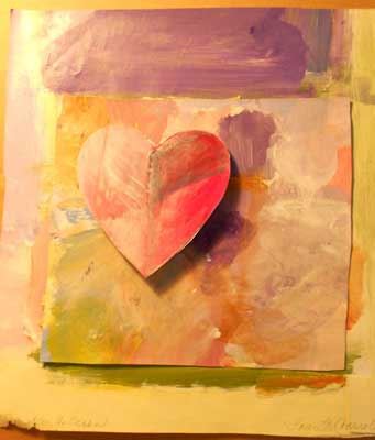 Heart Shadow Collage by Laurette Carrol