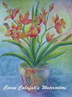 Orchids by Caren Calafati