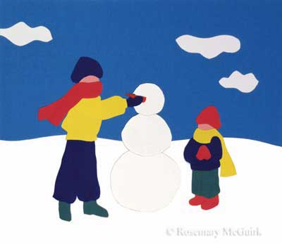 Snowman by Rosemary McGuirk