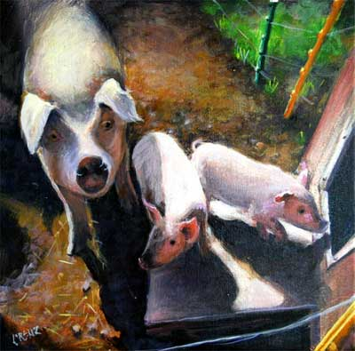 Sow and her Piglets