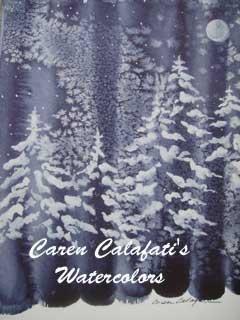 Winter Series Card 1 by Caren Calafati