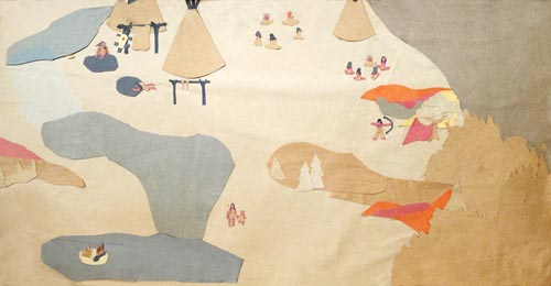Indian Village Collage by Rosemary McGuirk