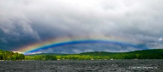 Rainbow over Fisher's Bay
