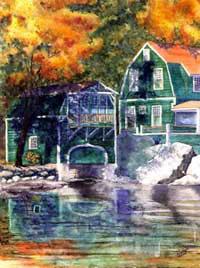 Fall Colors - Lake Sunapee Boathouse by JoAnn Pippin