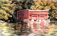 Old Red - Lake Sunapee Boathouse by JoAnn Pippin