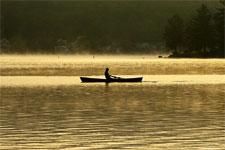 Rowing on Lake Sunapee