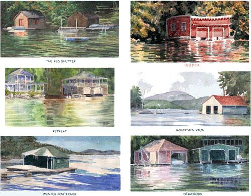 Sunapee Boathouse Card Set 1 & 2