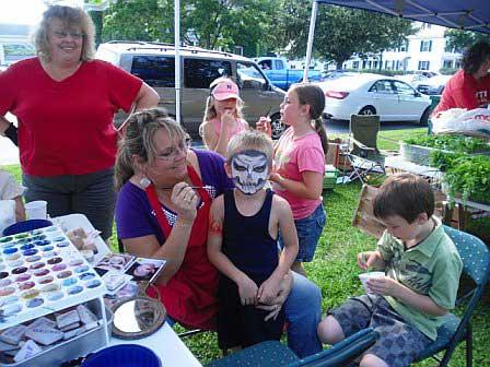 Face Painting at Newport Market