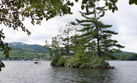 Lake Sunapee & Minute Island from The Fells hiking trail
