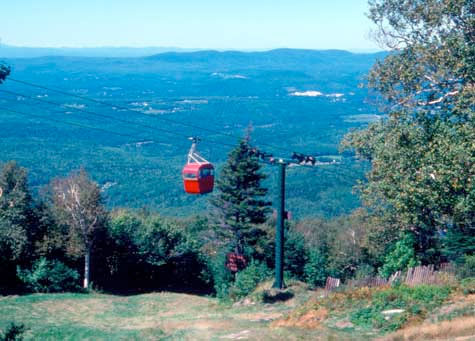 Red Cable Car on Mount Sunapee