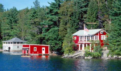 Red Boathouse on Great Island