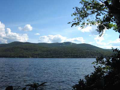 Mount Sunapee & Lake Sunapee from the hiking trails at The Fells