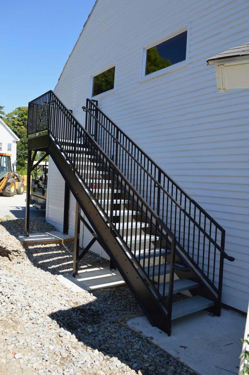 Fire escape stairway