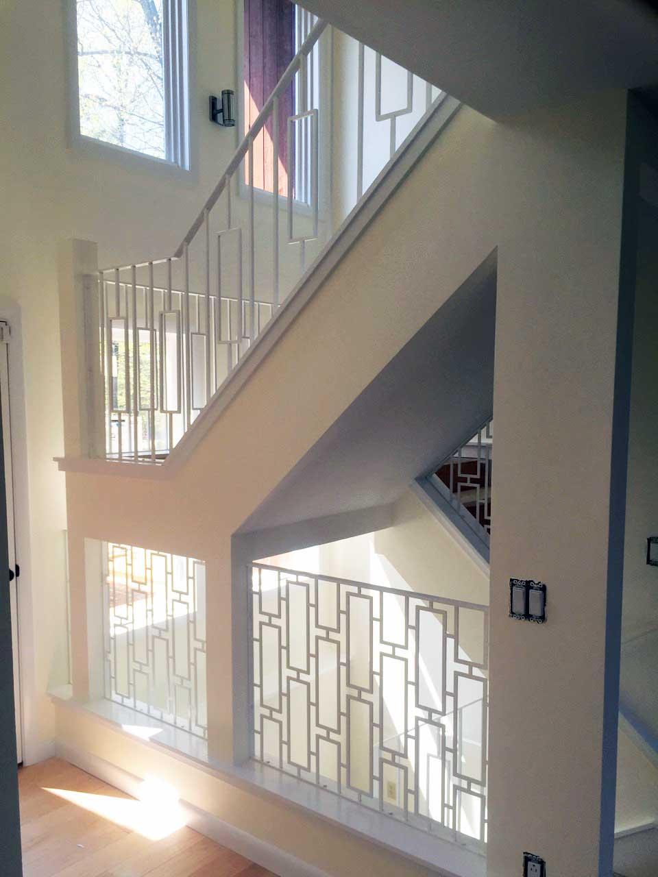 Modern plasma cut insert railing