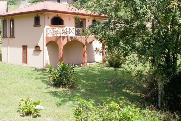 Two bedroom second floor guest house with large pond on private estate