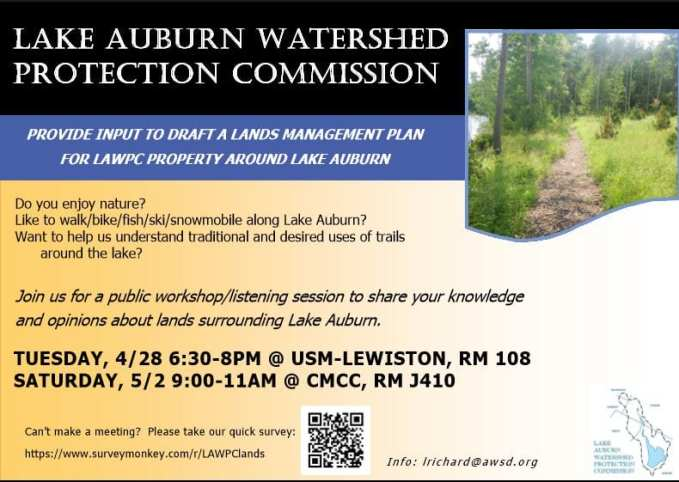 An Invitation to Join In the Community Discussion About Lake Auburn – JOIN US!