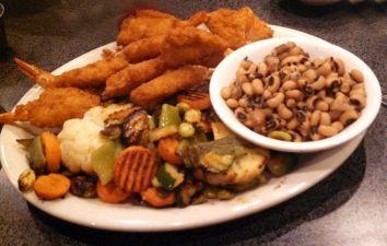 Magnolia Diner's Shrimp Platter