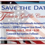 Save the Date for a Celebration of Independence Day Tribute to God & Country