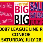 Huge Garage Sale — Christ Church, Conroe — Saturday, July 28
