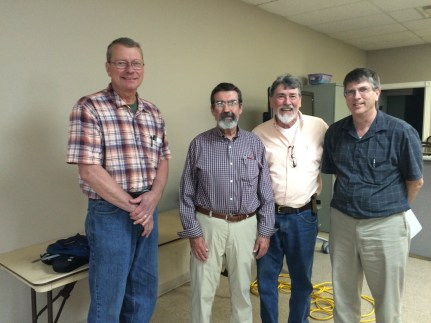 (l-r) LCBA President David Gilbert, Phil Craft, Doug Brock, KSBA President Ray Tucker