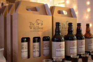 The Wild Boar selection of ales