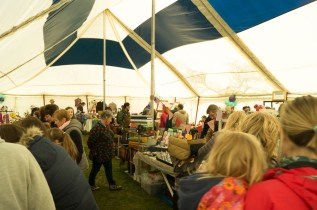 One of the arts and crafts tents