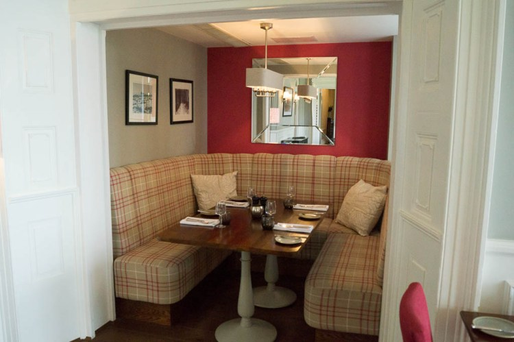 Cubby hole in the Brasserie at the Laura Ashley Belsfield