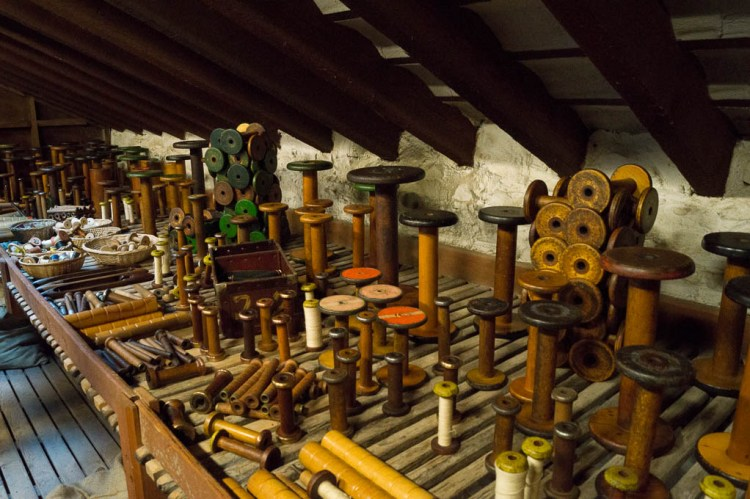 Bobbins and other items manufactured at the mill