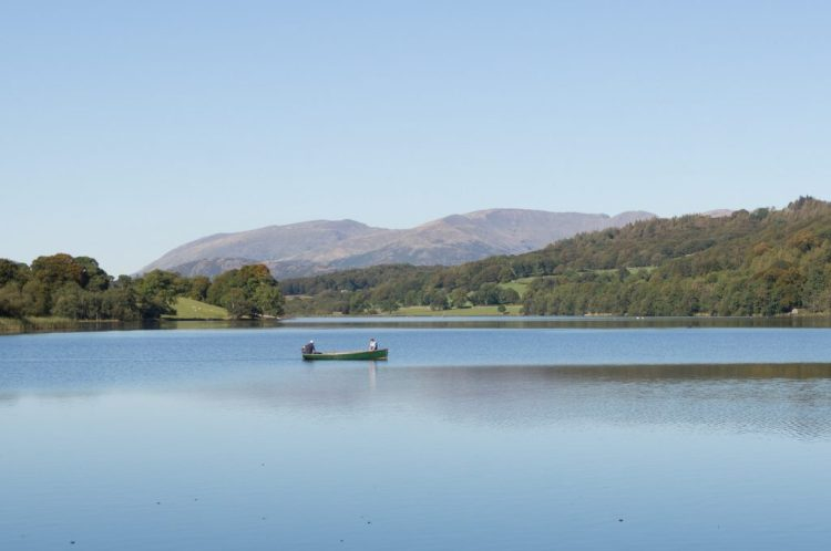 The tranquil Esthwaite Water, near Hawkshead