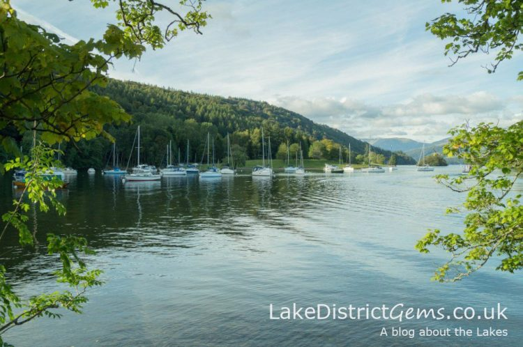 The view from the western shore of Windermere near Ferry House