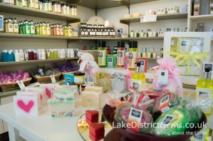 Products at The Soap Co, Keswick