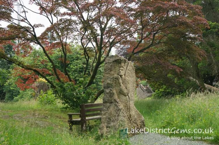 A sculpture in the Quiet Garden