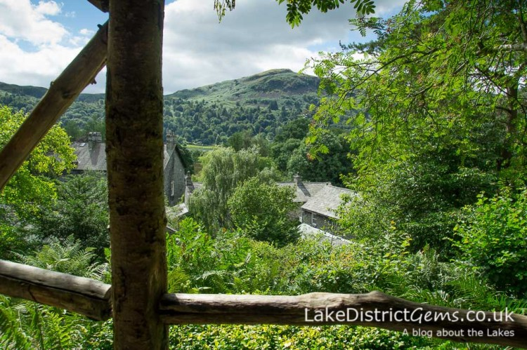 The view from the arbour at Dove Cottage, Grasmere