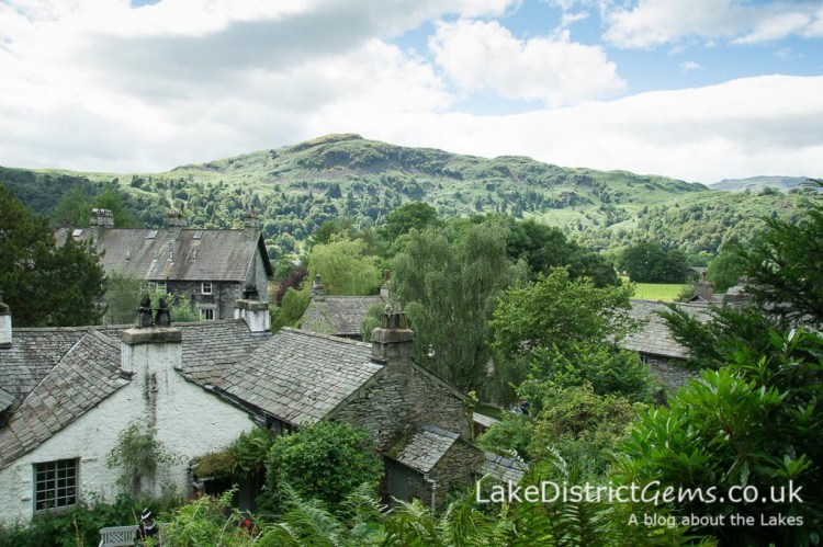 The view from the terrace at Dove Cottage, Grasmere