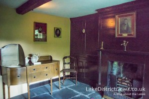 The downstairs bedroom at Dove Cottage, Grasmere