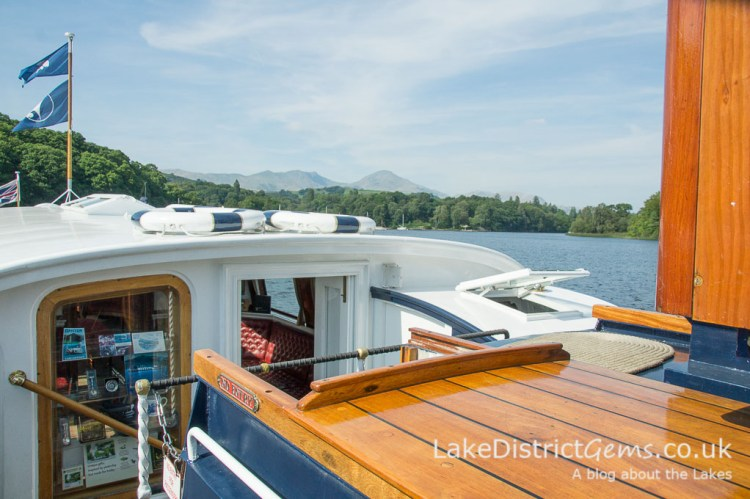Setting sail from Lake Bank Jetty on Coniston Water