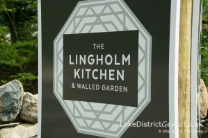 Signage for the Lingholm Kitchen and Walled Garden