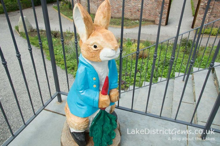 Peter Rabbit wood carving