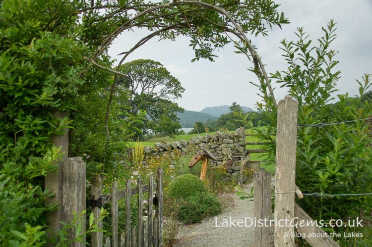 The Lower Gardens with Coniston Water behind