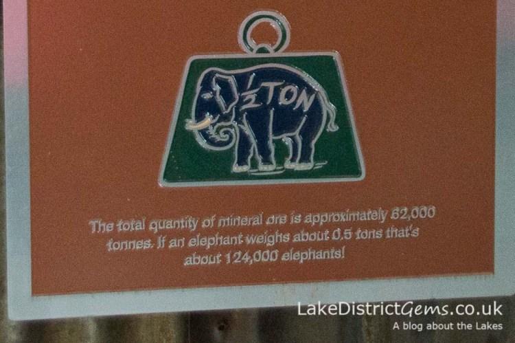 Information sign at Force Crag Mine